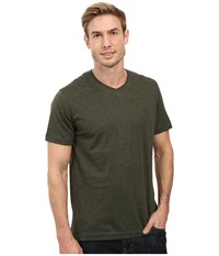 Robert Graham Nomads Short Sleeve Knit T Shirt Heather Forest Men's Short Sleeve Pullover Green