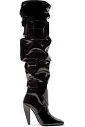 Tom Ford Patent Leather Knee Boots Black