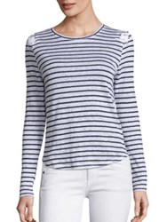 Generation Love Patti Lace Up Striped Linen Tee