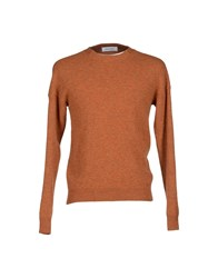 Mauro Grifoni Knitwear Jumpers Men Rust