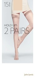 John Lewis 15 Denier Hold Ups Pack Of 2 Nude