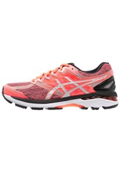 Asics Gt2000 4 Liteshow Plasmaguard Stabilty Running Shoes Flash Coral Silver Black