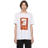 Neil Barrett White And Red Chaotic Subway Loose T Shirt