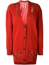 N 21 No21 Long Cardigan Red