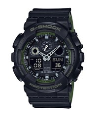 G Shock Resistant Ana Digi Strap Watch Black