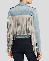 Mcguire Jacket Denim Fringe New Dawn