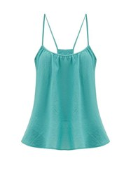 Loup Charmant Scoop Neck Cotton Cami Top Blue
