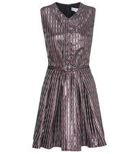 Carven Metallic Striped Dress Pink