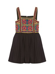 House Of Holland Embellished Cotton Dress