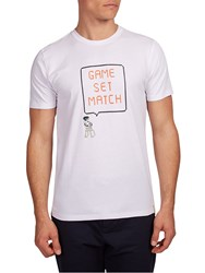 Hymn Game Set Match Short Sleeve Graphic T Shirt White