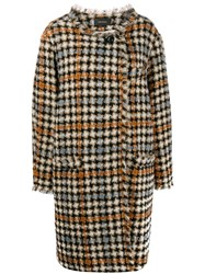 Isabel Marant Zaban Oversized Tweed Coat Neutrals