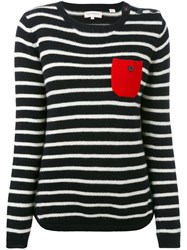 Chinti And Parker Striped Sweater Women Cashmere S Black