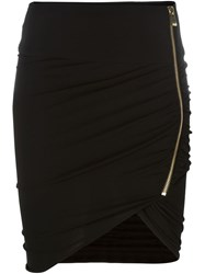 Alexandre Vauthier Asymmetric Mini Skirt Black