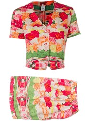 Kenzo Vintage 1970'S Shorts And Blouse Set Pink