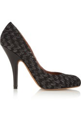 Missoni Metallic Crochet Knit Pumps