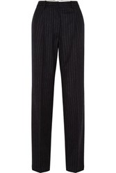Hillier Bartley Pinstriped Wool Trousers Black