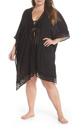 Muche Et Muchette Plus Size Women's Serendipity Cover Up Tunic Black