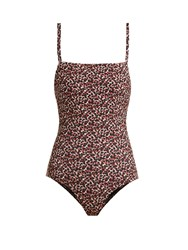 Matteau The Ring Swimsuit Brown Print