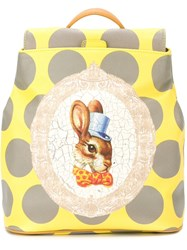 Vivienne Westwood Anglomania 'Bunny' Backpack Yellow And Orange