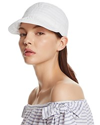 Aqua Ribbon Baseball Cap 100 Exclusive White