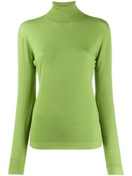 Escada Turtleneck Slim Fit Jumper Green