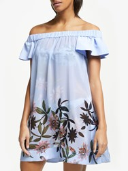 Ted Baker Belriaa Floral Illusion Print Cover Up Heavenly Blue