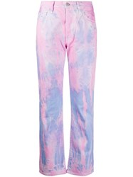Aries Lilly Tie Dye Jeans Pink