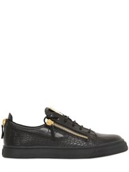 Giuseppe Zanotti Croc Embossed Leather Low Top