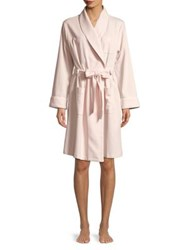 Lord And Taylor Cotton Blend Waffle Robe Frost Rose