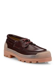 Acne Studios Lace Up Leather Shoes Burgundy