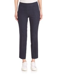 Akris Punto Polka Dot Denim Franca Pants