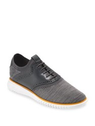 Cole Haan 2.Zerogrand Packable Saddle Knit Oxfords Grey