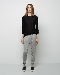 Alexander Wang Enzyme Washed French Terry Sweatpants Light Heather Grey