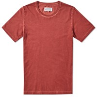 Maison Martin Margiela 10 Garment Dyed Compass Tee Red