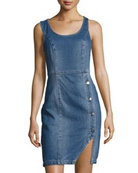 Minkpink The Blues Sleeveless Denim Dress Medium Blue
