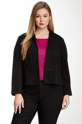 Eileen Fisher Stand Up Collar Jacket Plus Size Black