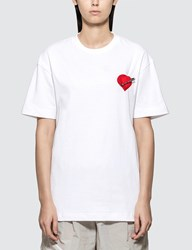Palm Angels Pin My Heart T Shirt White