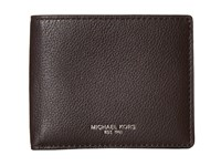 Michael Kors Bryant Cavallo Pebble Slim Billfold Brown Bill Fold Wallet