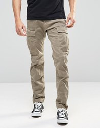 G Star G Star Cargo Trousers Rovic Slim Fit Stretch Twill Beige Overdye Dune Oak
