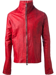 A Diciannoveventitre Leather Jacket Red