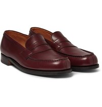 J.M. Weston 180 The Moccasin Leather Loafers Burgundy