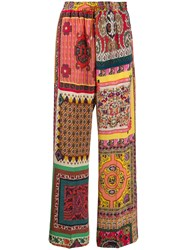 Etro Silk Patchwork Print Trousers 60