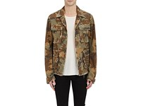 Amiri Men's Studded Camouflage Cotton Field Jacket Green No Color