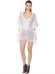 Roberto Cavalli Tiger Cotton Blend Knit Caftan Romper