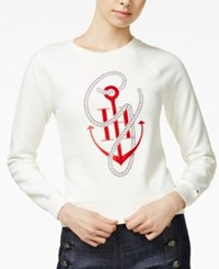 Tommy Hilfiger Tommyxgigi Anchor Graphic Sweater Snow White
