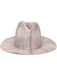 Reinhard Plank Open Crown Hat Pink And Purple