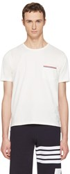 Thom Browne Off White Pocket T Shirt