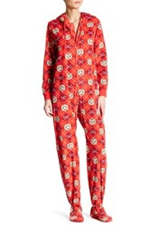 Paul Frank Printed Fleece Jumpsuit Red