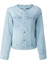 Marc By Marc Jacobs Ripped Denim Jacket Blue