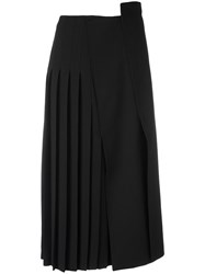 Jil Sander Pleated Midi Skirt Black